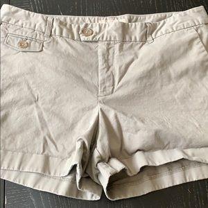 Banana Republic gray shorts size 10